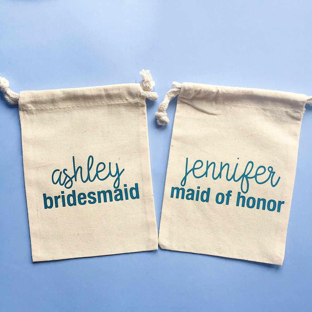 Свадебные вечерние подарки на заказ | Сумка-тоут с именем на заказ | сумка для выживания | набор для подружки невесты | набор для девичника для выживания | для подружки невесты