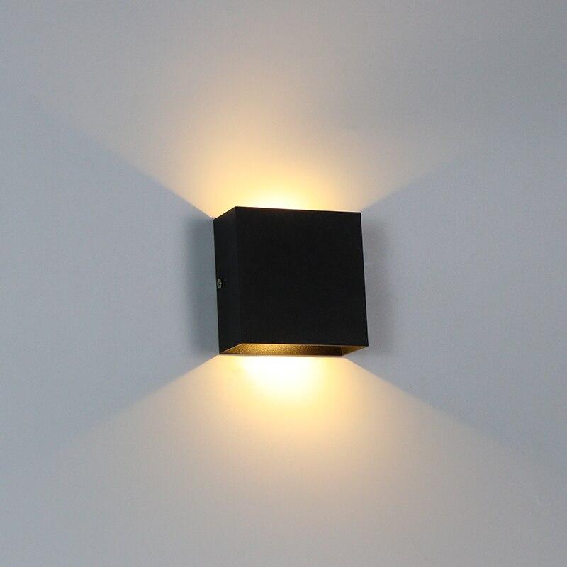 داخلي الجدار مصباح 6 واط/10 واط LED عكس الضوء الجدار ضوء الممر درج تزيين تركيبة إضاءة غرفة نوم أباجورة الألومنيوم AC110V/220 فولت