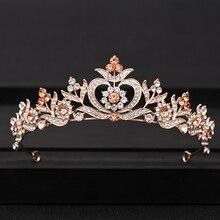 Gold Silver Baroque Crystal tiaras