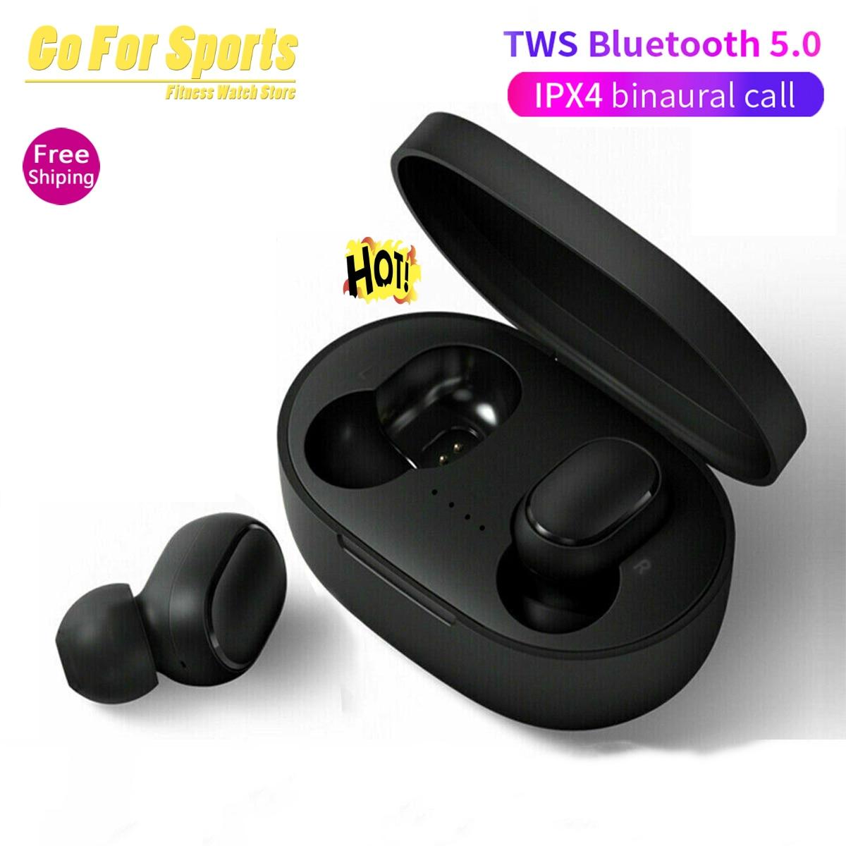 Tws Bluetooth Earphone A6S Wireless Earphone In-Ear Stereo Earbuds BT 5.0 With Microphone  Wireless Earphone For Xiaomi Redmi