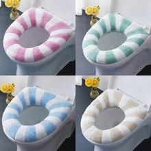 1Pc Elastic Warm Toilet Seat Cover Bathroom Washable Soft Closestool Cushion Pad Home Supplies