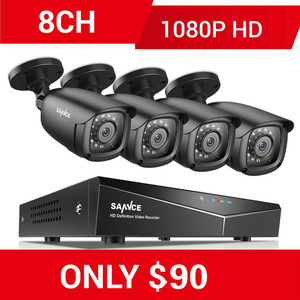 Image 1 - SANNCE 8CH 1080P نظام أمن الفيديو المنزلي مع 5IN1 1080N DVR 4X 1080P الذكية الأشعة تحت الحمراء في الهواء الطلق كاميرا مقاومة للماء طقم مراقبة الدوائر التلفزيونية المغلقة