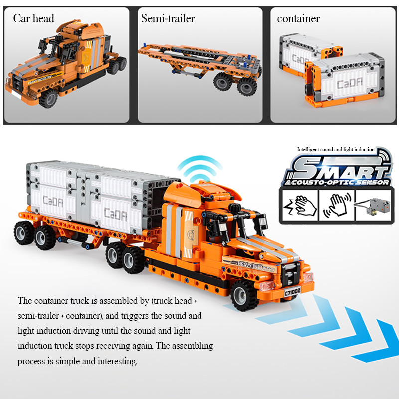Cada C71002 City Port Truck Engineering Car 10 IN 1 Building Blocks