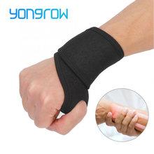 Yongrow auto-aquecimento magnético quente banda de pulso esportes pulseira cinta cinto protetor de artrite alívio da dor envoltório para fitness