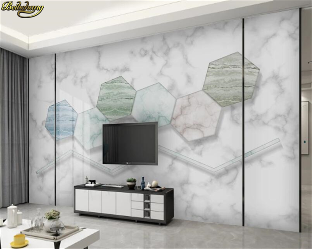 Beibehang Custom 3d Wallpaper Mural 3D Three-dimensional Geometric Graphics Modern Minimalist Wall Paper Geometric TV Background
