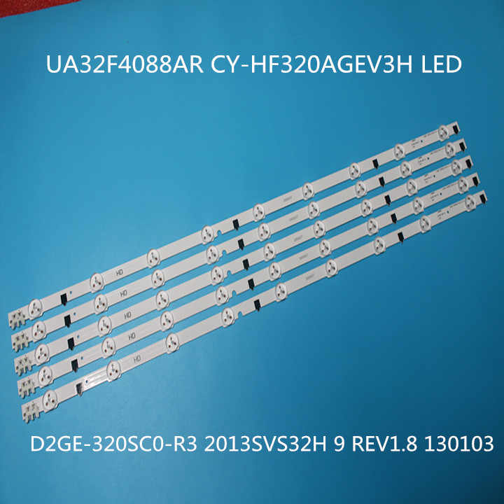 650 Mm Led Backlight Lamp Strip 9 Leds Voor Samsung UA32F4088AR \ Aj \ Ua 2013SVS32H D2GE-320SC0 32 Inch Lcd monitor Hoge Licht 5 Pcs