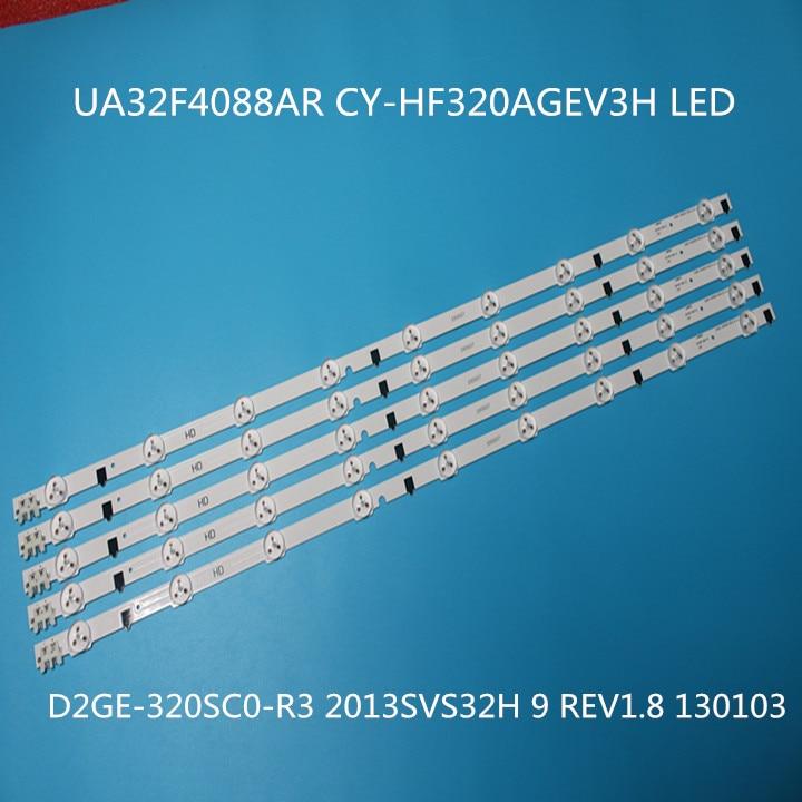 650mm LED Backlight Lamp Strip 9 Leds For SamSung UA32F4088AR\AJ\UA 2013SVS32H D2GE-320SC0 32 Inch LCD Monitor High Light 5 Pcs
