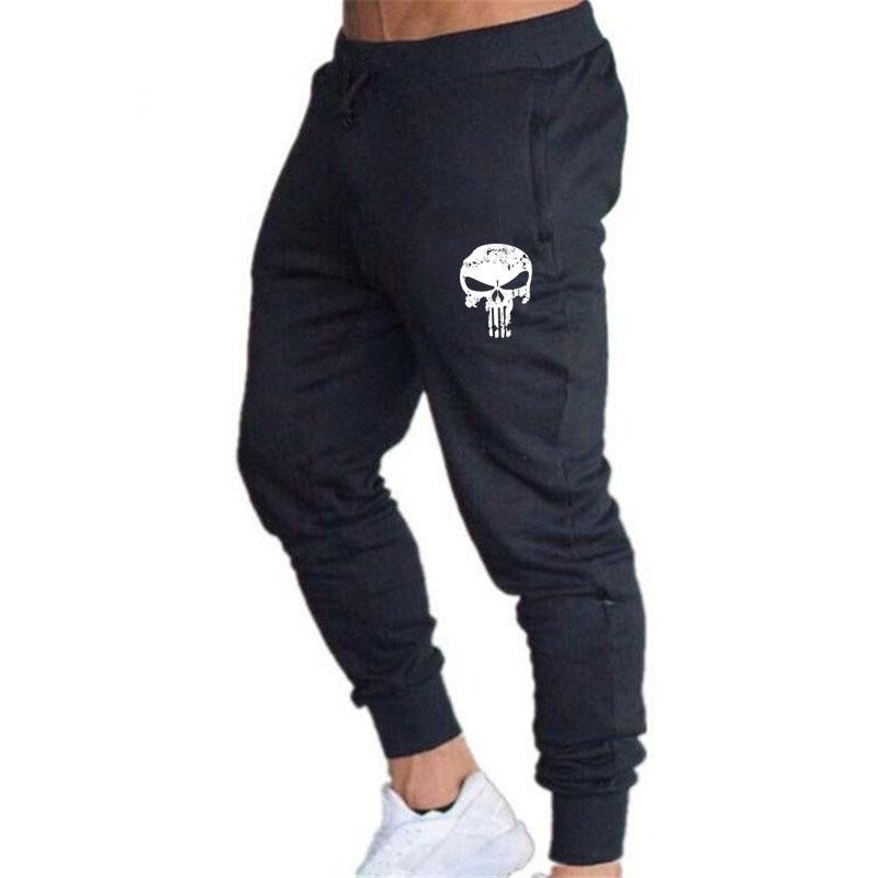 Punisher Men Pants Slim Fit Sweatpants Skull Print Pants Men Hip Hop Pencil Pants Gyms Jogging Casual Trousers Run Elastic Pants