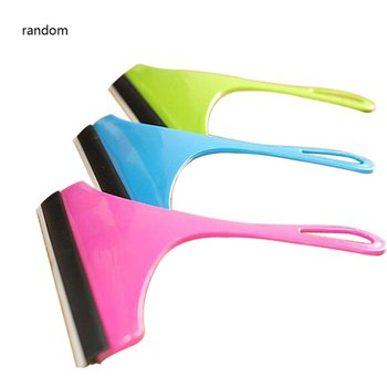 Window Glass Cleaning Brush Wiper Airbrush Scraper Multifunctional Cleaner Home Washing Cleaning Tools for Bathroom Random Cloor image