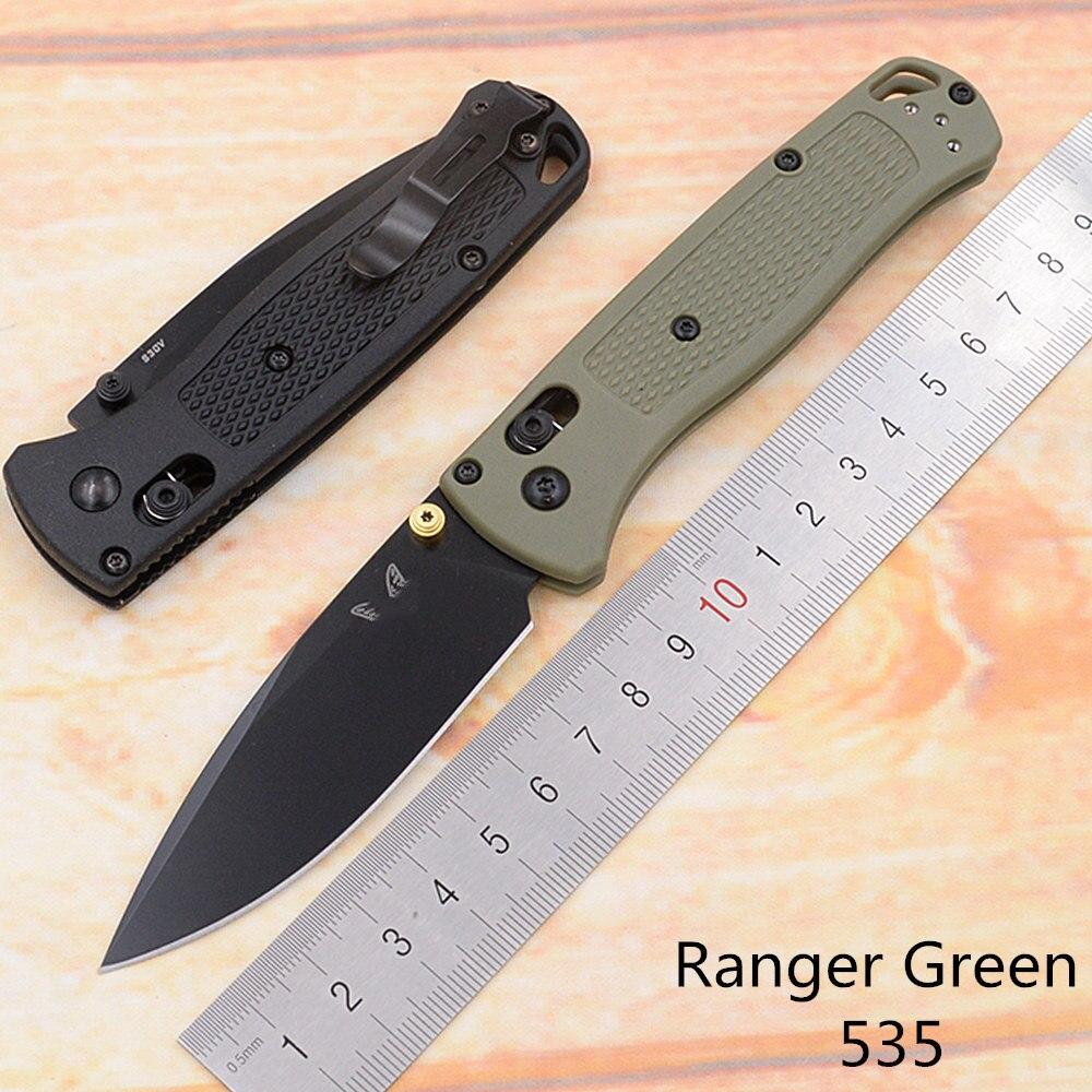 JUFULE Ranger Green 535/535BK/535S Nylon Fiber Mark S30v Blade Folding Pocket Survival EDC Tool Camp Hunt Utility Outdoor Knife