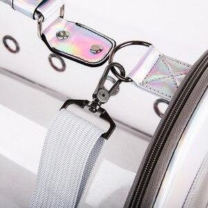 Image 3 - 送料無料猫バッグ通気性ポータブルペットキャリアバッグアウトドア旅行リュック猫と犬透明スペースペットのバックパック