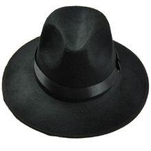Unisex Classic Blower Jazz Hat Black Fedora Trilby Hat