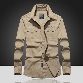 Mens Shirt Breathable 2020 Male Business Dress Men Shirt Long Sleeve 100% Pure Cotton Sports Hiking Shirts Fashion Shirts Tops