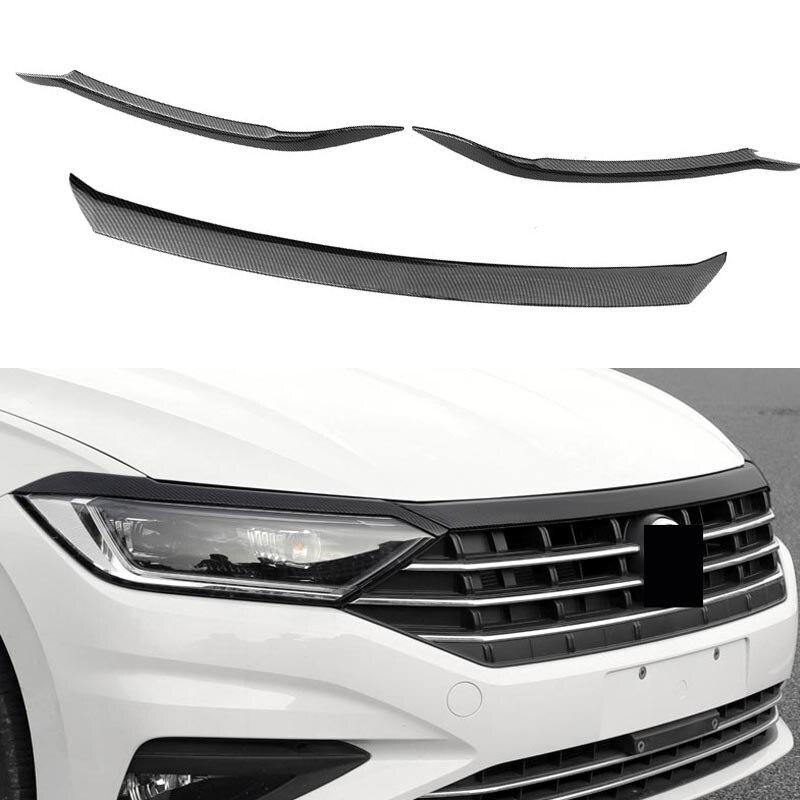 Автомобильная решетка обрезки полосы переднего бампера грили капот отделка лампы для бровей отделка для Volkswagen VW Jetta MK7 2019 2020 автомобильные а