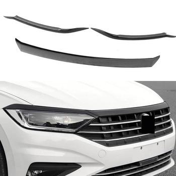 цена на Car grille trim strip Front Bumper Grills Hood trim lamp brow trim For Volkswagen VW Jetta MK7 2019 2020 Car Accessories
