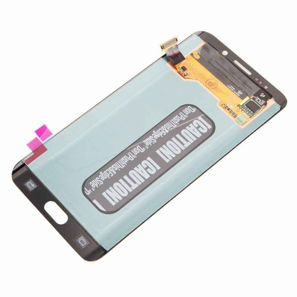עבור סמסונג גלקסי S6 קצה בתוספת LCD G928 G928F תצוגת מסך מגע Digitizer עצרת לסמסונג S6 קצה בתוספת LCD