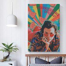 Harry Styles Eroda Poster artistico su tela e decorazione da parete per camera da letto