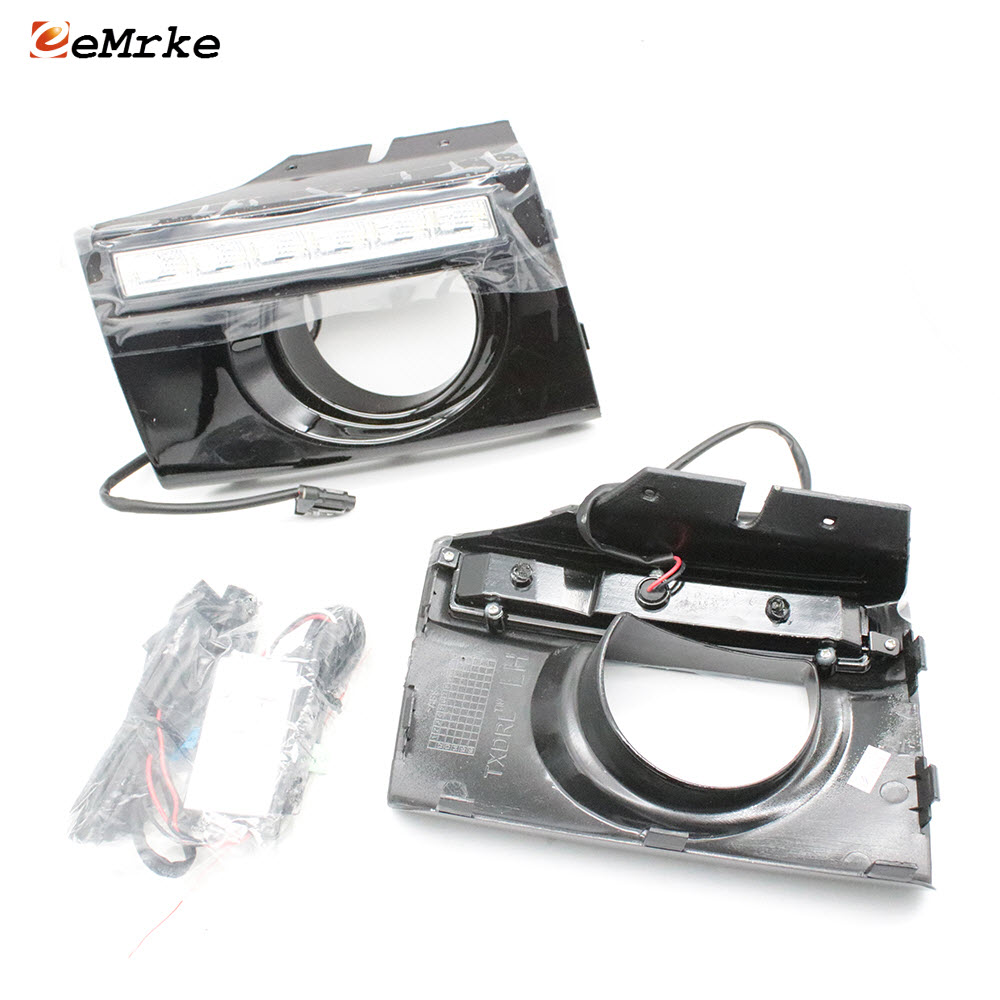 Car-Styling LED DRL Daytime Running Lights For Hyundai Tucson  2006 2007 2009 2009 Car Front Fog Cover Bumper Light