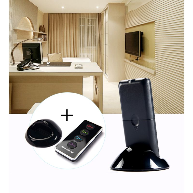 4 In 1 Advanced Wireless Key Finder Remote Key Locator Phone Wallets Anti-Lost With Torch Function 4 Receivers And 1 Dock D08B