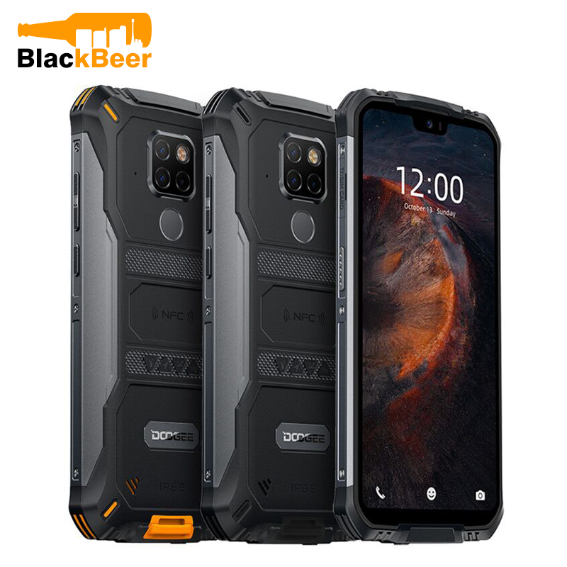 "DOOGEE S68 Pro 5.84"" Rugged Smartphone IP68/IP69K MTK Helio P70 Mobile Phone 6GB 128GB Octa Cellphone AL 21MP Triple Cameras NFC"