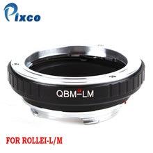 Pixco QBM L/M עדשת מתאם חליפת עבור Rollei QBM עדשה ליקה M Camer