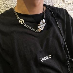 Image 5 - 1017 alyx 9sm relâmpago alyx herói corrente colar hip hop alyx rua acessórios smiley pérola colar