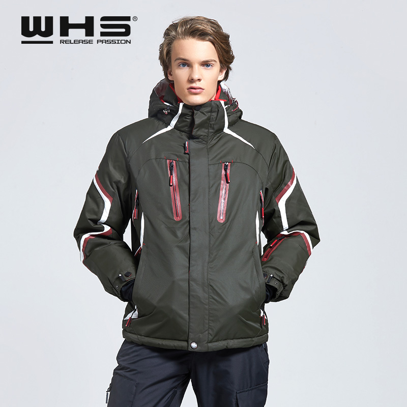 WHS  Ski Jacket Men Windproof Warm Coat  Male Waterproof  Snowboard Jacket  Outdoor Sport  Clothing Winter Bright Color
