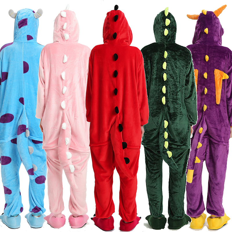 Kigurumi Uincorn Men Winter Flannel Sleepwear Pikachu Unicorn Pajamas Adults Cartoon Animal Onesies For Women Couple Sleepwear