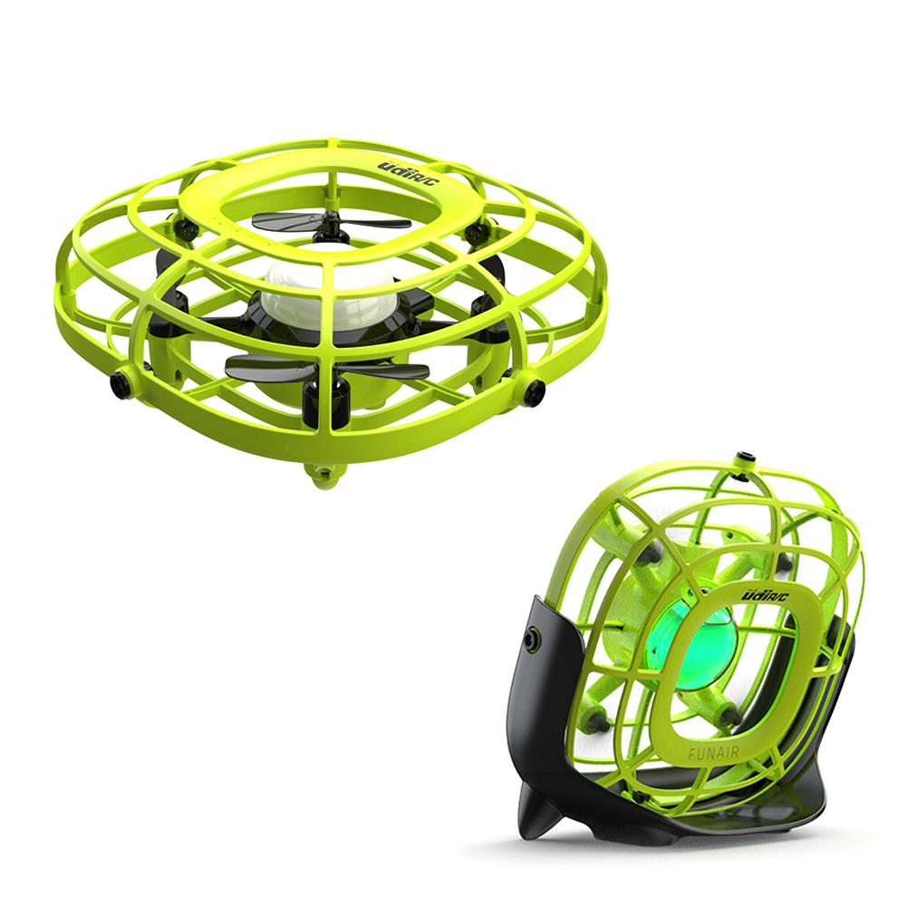 Aircraft Fan Two-in-one Childrens Toy Induction Intelligent Floating Rotating Saucer Mini Four-axis Uav