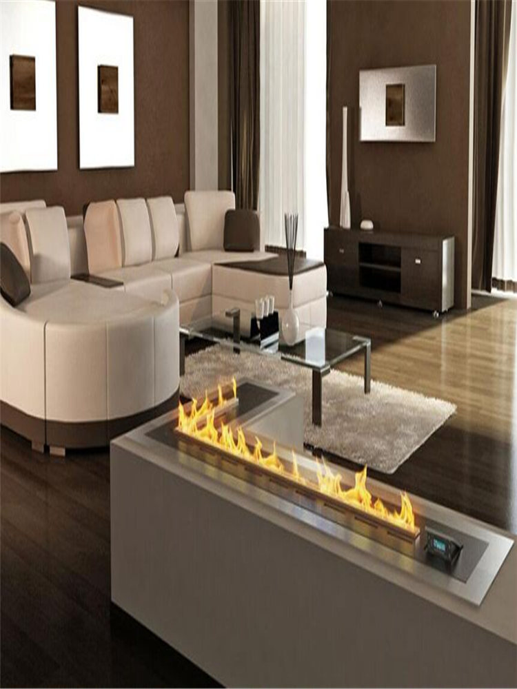48 Inch Wifi Intelligent Smart Eco Fuel Alexa Wlan Remote Flame Ignition Low Profile Ethanol Fireplace