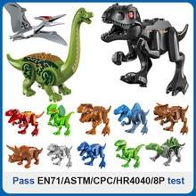 Dinossauro brinquedos mundo blocos de construção série diy modelos de dinossauro animal blocos de construção tijolos dinossauro brinquedos para crianças