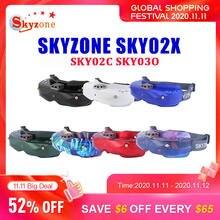 SKYZONE SKY02X/ SKY02C/ SKY03O 5.8Ghz 48CH التنوع FPV نظارات دعم DVR HDMI و رئيس المقتفي مروحة ل RC سباق بدون طيار