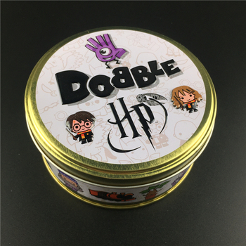Dobble HP Harried Spot It Card Game Toy Iron Box 55 Cards Potter Hermione Sport Go Camping Hip Kids Board Game Gift