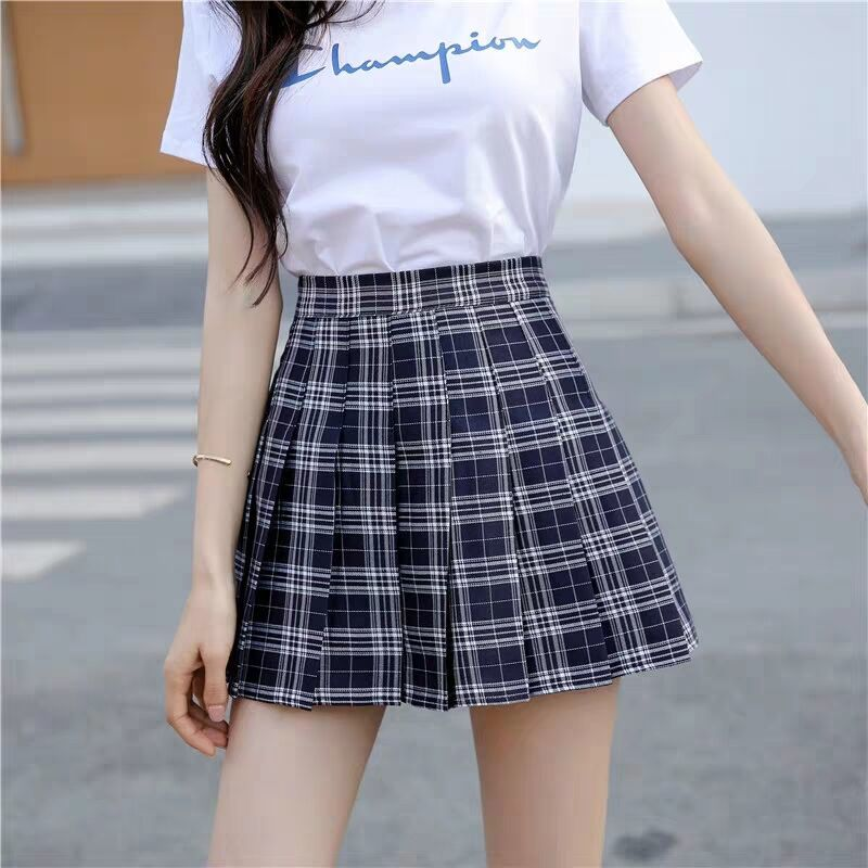 JK Plaid Pleated Skirt Girly Sexy Short Skirt Korean Style Spring Summer Skirt High Waist Short Skirt Women 2020 Hot Sale A030 4