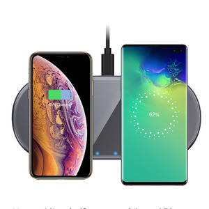 Image 4 - Dual 15W Fast Qi Wireless Charger Pad For Samsung Note10 iPhone 11 Pro Max HUAWEI Mate 30 20 Pro Induction Charging Dock Station