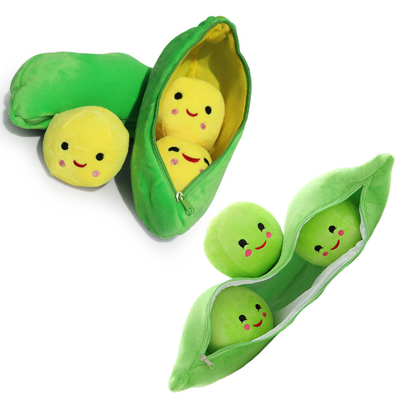 25/40/50cm Cartoon Toy Story 3 Little Peas Doll Mini Peas Plush Toys Peas-in-a-Pod Soft Stuffed Dolls Lovely Pillow Green Peas