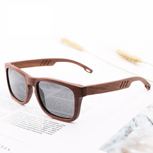 Brand Design Women Men Wood Sunglasses Vintage Hollow Rectan