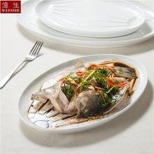 Высококачественная супербелая фарфоровая посуда для ресторана