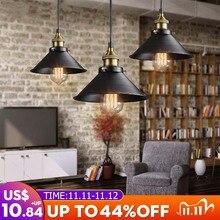 Loft vintage luz pingente nordic retro luzes de ferro industrial edison luminária para café bar iluminação casa
