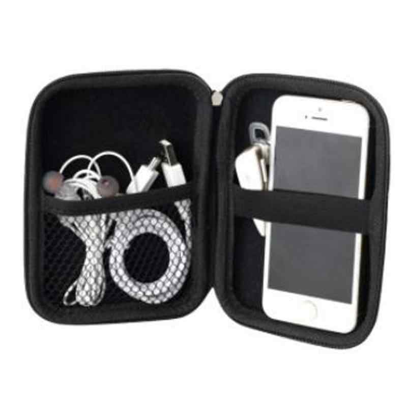 """VODOOL 2.5"""" HDD Bag External USB Hard Drive Disk Carry Mini Usb Cable Case Cover Pouch Earphone Bag for PC Laptop Hard Disk Case"""