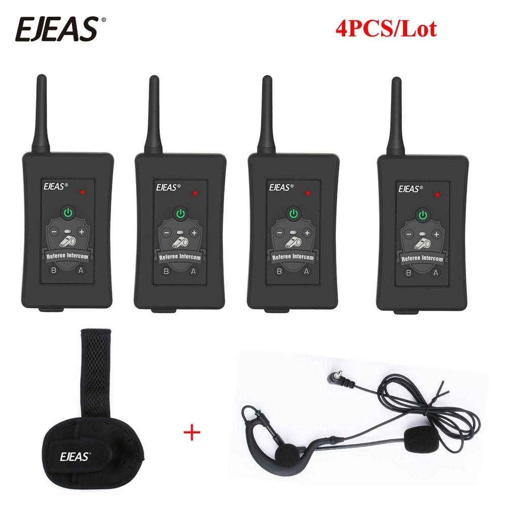 4Pcs Newest Football Referee Intercom Headset FBIM 1200M Full Duplex Bluetooth Interphone Wireless Ear Walkie Talkie Headsets