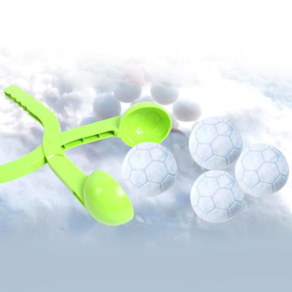 Multi-function Children Snowball Maker Clip Practical Cute Cartoon Football Outdoor Sports Sand Mold Toys Beach Thickening Toys