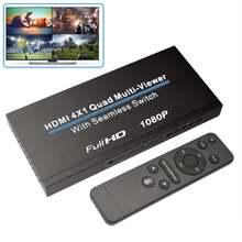 Hdmi swithcer 4x1hdmi quad multi просмотра hdmi switcher 1080p