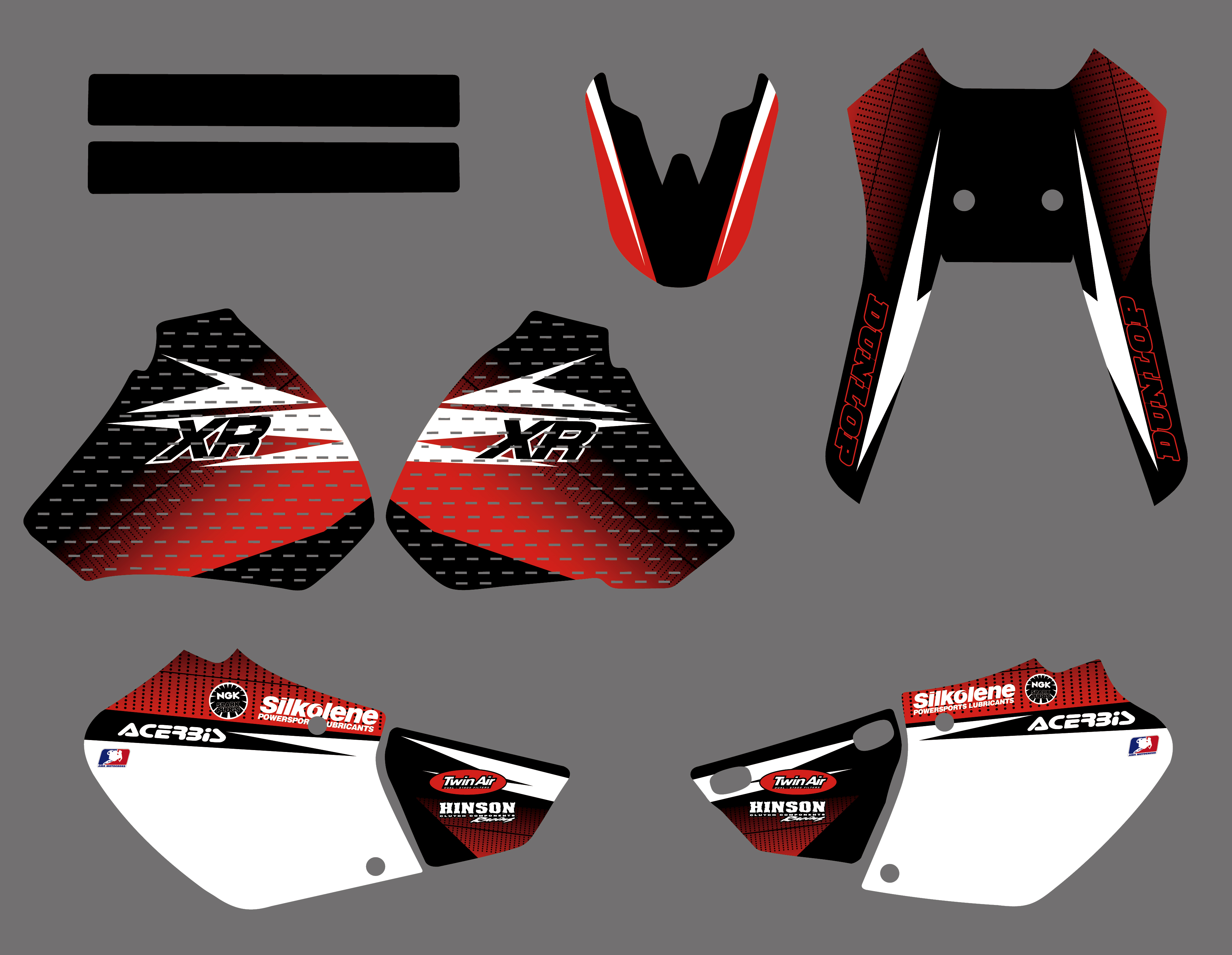 TEAM GRAPHICS & BACKGROUNDS DECALS STICKERS Kit for Honda XR250 XR400 1996 1997 1998 1999 2000 2001 2002 2003 2004 XR 250 400