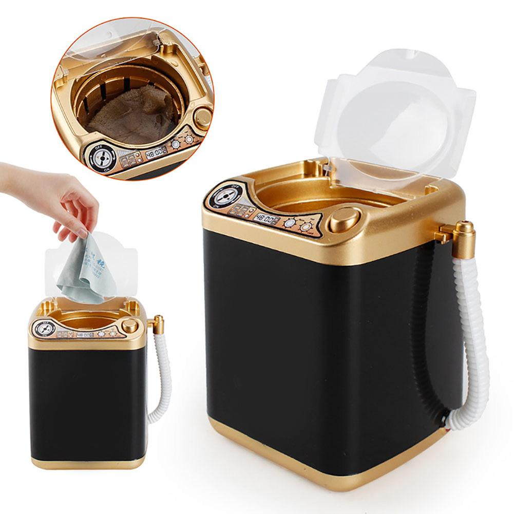 Mini Kids Electric Washing Machine Toy Makeup Brushes Cleaning Dehydration Spin Dryer Gift