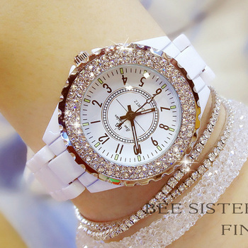 Luxury Brand Diamond Quartz Female Watches