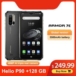 Перейти на Алиэкспресс и купить ulefone armor 7e 6.3дюйм. ip68 rugged waterproof mobile phone helio p90 octa core 4gb 128gb smartphone android 9.0 cellphone 5500mah