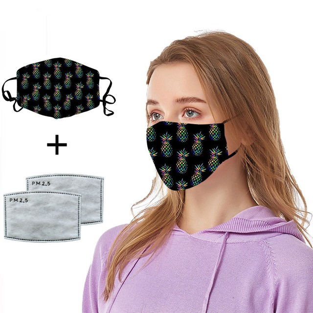 #H25 women Cotton PM 2.5 mouth Mask anti dust mask Activated carbon filter Windproof Mouth-muffle proof Face masks Care 3