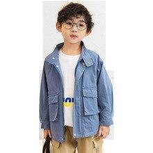 Spring Autumn Pocket Jackets for Boy Coat Bomber Jacket 2019 Fashion Korean Style Boy's Windbreaker Jacket Child Coat