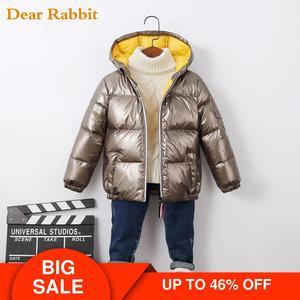 Image 1 - Abrigo de otoño invierno para bebé, chaqueta de plumón de pato, ropa de exterior, ropa impermeable para niña, ropa de escalada para niño, traje de nieve 2020